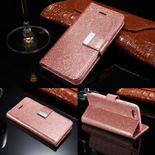 Bling Glitter Magnetic Flip Cover Stand Wallet Leather Case For Apple iPhone