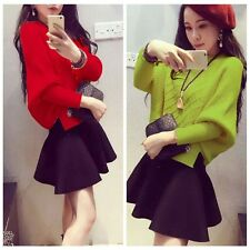 Women's Batwing Sleeve Loose Knitted Knitwear Cardigan Loose Sweater Tops Blouse