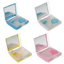Pocket Size Contact Lens Case Box Travel Kit Mirror Container Holder
