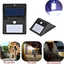 16 LED Solar Powered PIR Motion Sensor Security Wall Garden Light Lamp Outdoor