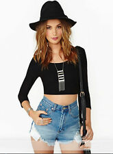 Cross Long Black Shirt Halter hollow Sexy T-shirt Sleeve Backless Women Open