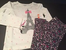 NWT Gymboree Starry Night Eiffel Tower Panda Top & Star Leggings 18-24 2T 3T 4T