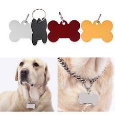 Puppy Pet Dog Cat Small Stainless Bone Print ID Name Collar Personalized Tag TSC