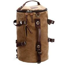 Men's Vintage Canvas Leather Travel Backpack Sport Rucksack Hiking Camping Bag