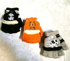 Cute Childrens Toddlers DOGGY LION COW Mittens Gloves Baby Winter Warm Boy/Girls