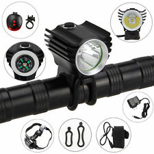 Rechargeable 5000LM XM-L R8 LED Front Bicycle Bike Lamp Head +6400mAh Tail Light