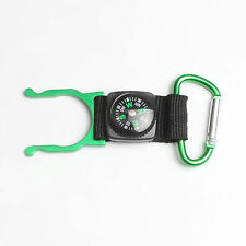 New Compass Outdoors Camping Carabiner With Water Bottle Clip Holder Buckle