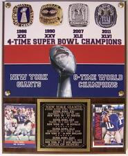 New York Giants Rings of Honor 4-Time Super Bowl Champions Plaque Simms-Manning