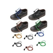 Footful Reflective Round Elastic Running Triathlon Sport Lock Shoe Laces Strings