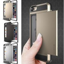 Slide Card Shock Proof Slim Hybrid Wallet Case Cover For Apple iPhone 5S 6/6PlJV