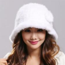 Fashion warm winter women Genuine Real mink knitted Fur hat Russian fur hat aw23