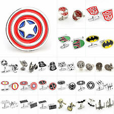 Fashion Men Shirts Cufflinks Wedding Party Cuff Links Star Wars Marvel Superhero