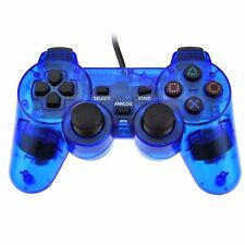 HOTSELL Blue Twin Shock Game Controller Joypad Pad for Sony PS2 Playstation USAL