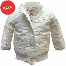 ADAMS BABY GIRLS CREAM PADDED QUALITY JACKET COAT AGE 0-3-6-9-12-18-24-36 Months