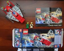 Lego Star Wars set #7134 A-Wing Fighter 100% Complete w/ Mini Figures and Box!!!