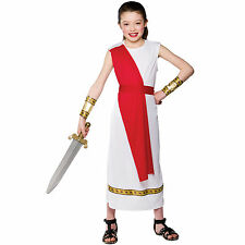 Child Girls Ancient Roman Girl Costume Fancy Dress Up Role Play Party Halloween