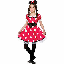 Child Girls Cute Mouse Girl Costume Fancy Dress Up Role Play Party Halloween New