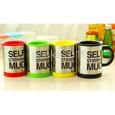 Stainless Steel Electric Self Stirring Double Insulated Coffee Mug Tea Cup