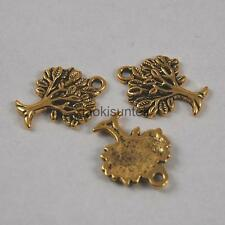 10PCS Vintage Alloy Metal Tree of Life Charms Pendants For Jewelry Finding