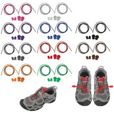 1 Pair Round Reflective Shoe Laces Locking Shoelaces Running Cycling Shoestring