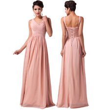 CUSTOM SIZE  Grace Karin Bridesmaids Chiffon Ball Gown Evening Prom Party Dress