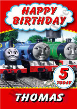 PERSONALISED BIRTHDAY CARD Any Name THOMAS THE TANK ENGINE LARGE A5 Boys Girls