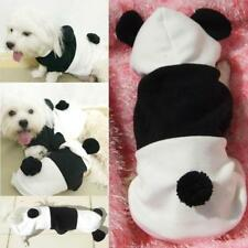 Pet Puppy Coat Apparel Fleece Clothes Dog Cat Hoodie Panda Costume Size XS--XL