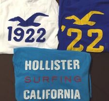 Lot 5 NWT Mens Hollister Abercrombie Long Sleeve Free Priority Ship U Pick Size