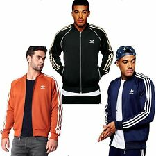 New Mens Adidas Original Superstar Tracksuit Jacket Track Top Stripes Size S-XL