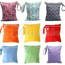 Waterproof Zipper Baby Cloth Diaper Nappy Bag Wet Dry Bag Tote w/ Snap Handle