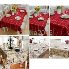 Chic British Style Tablecloth Floral/Plaid Cover Home Wedding Table Decoration