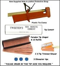 CUE TIPPING TOOLS. EVERYTHING REQUIRED FOR TIPPING YOUR CUE. 6 PIECE