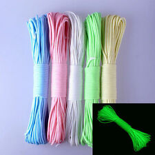 550 Parachute Cord Luminous Glow in the Dark & Reflective 9 Core Strand Cable