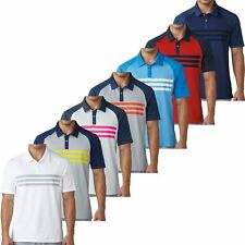 """NEW 2017"" ADIDAS CLIMACOOL® 3-STRIPES COMPETITION MENS GOLF POLO SHIRT"