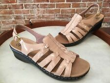 Clarks Nude Patent Leather Lexi Marigold Comfort Sandal New