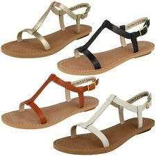 'Ladies Clarks' Open Toe Strappy Buckled Sandals - Voyage Hop