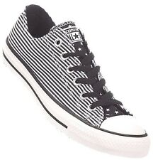 Converse B/W Strips Canvas Women Men Sport Shoes Sneakers Trainers All Sizes~