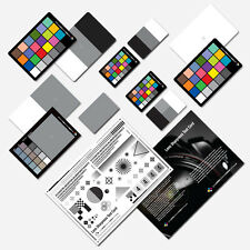 2 in 1 Grey White Balance Colour Cards -  Grey Cards - Lens Sharpness Test Card