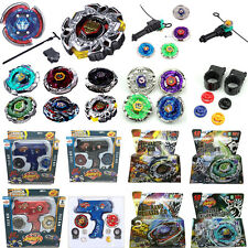 4D Beyblade Metal Master Fusion Spinning Top Fight Rare Grip Launcher Battle Set