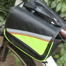 Bicycle Bike Cycling Frame Double Pannier Front Tube Mobile Holder Phone Bag ZJ