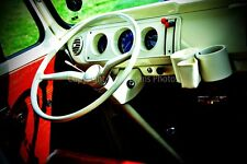 Volkswagen camper van interior color photograph picture photo poster art print