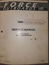 1984 -1988 MERCURY FORCE 85, 125 HP OUTBOARD SERVICE MANUAL OB4130