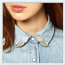 Angel Wings Collar Pin Brooch,Angel,Wings,Fashion,Collar,Silver Or Gold,Pretty