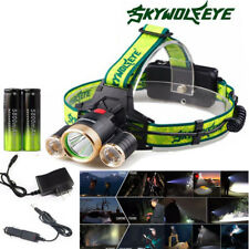 25000LM CREE 5x XM-L T6 Headlight LED Rechargeable USB Battery Torch Headlamp