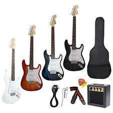 Full Size ST Electric Guitar+3 Watt Amp+Gig Bag Strap+Free Ship Gifts New R4U6