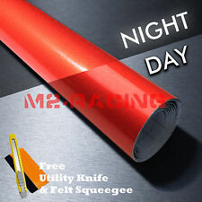 *Reflective Red DIY Vinyl Car Wrap Sticker Decal Graphic Sign Adhesive Film