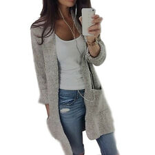 Womens Casual Long Sleeve Knitted Sweater Coat Autumn Outwear Cardigan Jackets