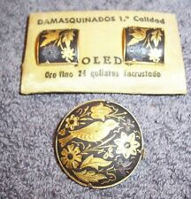 Damasquindos Brooch and earclip set