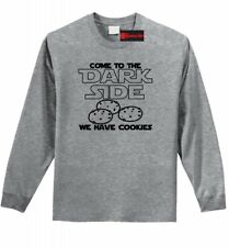 Come To Dark Side Have Cookies Funny Mens L/S T Shirt Nerd Gamer Movie Tee Z1