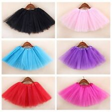 Multicolor Tulle Tutu Skirt Princess Dressup Ballet Dancewear Party Costume